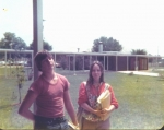 Martin Johnson and Pam Steward in between classes in 10th grade.