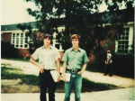 Martin Johnson and Tony Neese on the way to Driver's Ed class, 10th grade.