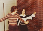 Angie Kast and Pam Steward doing 'The Bump':) Dec. 1977 Angie, Could we get down or what, girl?