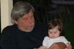 My husband (Frank) and our granddaughter (Kaylenia)