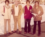 D Chaet, M Killam, N Hector & Loy Howard on the streets of DC. A Wall Street Journal is under Howard's arm - guaranteed
