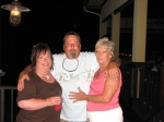 Pam Steward Coleman, Martin Johnson & wife Chrissy Johnson @ Hemingway's the night before the reunion
