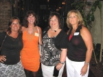 L to R: Elaine Barnes Richbourg, Gina Wells Evans, Pam Steward Coleman, Angie Kast Watkins. Ladies--we still look good:)